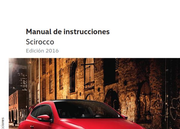 Manual de Volkswagen Scirocco