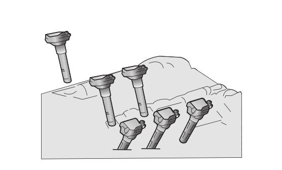 Sistema DIS con bobinas individuales en un motor de 6 cilindros en V